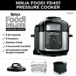 Ninja Fd402 Foodi 8-quart 9-en-1 Deluxe XL Autocuiseur, Gril, Déshydrater