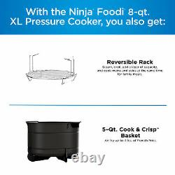 Ninja Foodi 10-en-1 8-quart XL Cuisinière De Pression De Friteuse D'air Multicuisinière, Stainles
