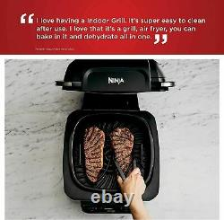 Ninja Foodi 4 Quart 5 En 1 Indoor Electric Grill Air Fryer Roast Bake Déshydrate