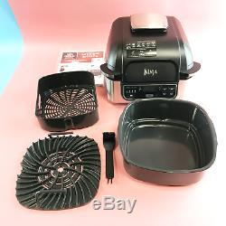 Ninja Foodi 5-en-1 Grill Intérieur Avec Le 4-quart Air Fryer Ag301 En Acier Inoxydable
