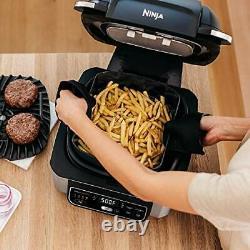 Ninja Foodi Ag301 5-en-1 Indoor Electric Countertop Grill Avec Friteuse À Air 4 Litres