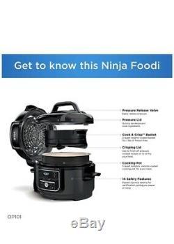 Ninja Op101 Foodi 7-en-1 Pression, Mijoteuse, Air Fryer Et Plus, 5 Pintes