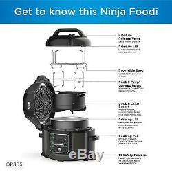 Ninja Op305 Foodi 6,5 Pintes Autocuiseur Ce Crisps, Vapeur Et Air Fryer Nouveau