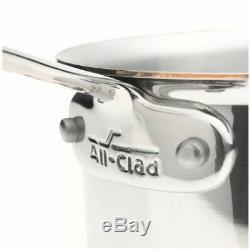 Nouveau All Clad Copper Core 2 Quart Qt. Casserole De Sauce À Quartz Avec Couvercle