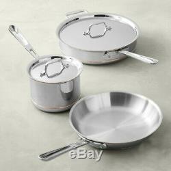 Nouveau All-clad Cuivre De Base 10 Pouces Skillet Pan, 2-qt Casserole, 3 Pintes Sauteuse