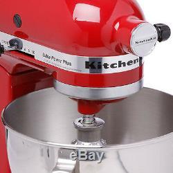 Nouveau Batteur Sur Socle Kitchenaid Ksm100pser Empire Red 4.5 Pintes Empire Red Made USA