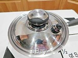 Nouveau Casserole À Marmite Royal Prestige 1,5 L Avec Couvercle Usage 5 Ply T304 Inox