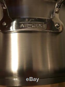 Nouveau Dans La Boîte Tous Les Clads Acier Inoxydable 12 Qt Quart Rondeau Pot Stock Professional