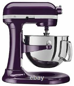 Nouveau Kitchenaid 600 Capacité 6-quart Pro Stand Mixer Kp26m1ppb Plum-berry Purple