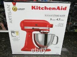 Nouveau! Kitchenaid Artisan Série 5 Quart Tilt-head Mixer Ksm150pser Rouge