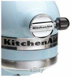 Nouveau Kitchenaid Batteur Sur Socle Inclinable 5 Pintes Ksm150psgb Artisan Glacier Blue