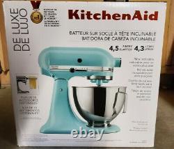 Nouveau Kitchenaid Deluxe 4.5 Litres Tilt-head Stand Mixer Ksm97mi Eau Minérale