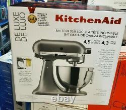 Nouveau Kitchenaid Deluxe Ksm97sl 4.5 Quart Tilt-head Stand Mixer, Silver 10 Vitesse