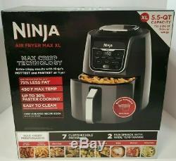 Nouveau Ninja Af161 Max XL Air Fryer 5,5 Pintes Gris Max Croustillante Frite Broil Rôti Cuire Au Four