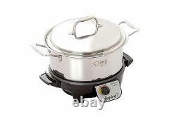 Nouveau Pot De Stock En Acier Inoxydable 360 Cookware 4 Quart Avec Couvercle / Mijoteuse