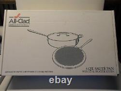 Nouveau Tout En Acier Inoxydable Clad 4 Qt Saute Pan Withlid & Splatter Screen