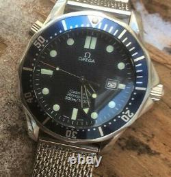 Omega Seamaster Professional 300m 2541.80.00 Quartes De Liaisons D'onde Bleue 41mm