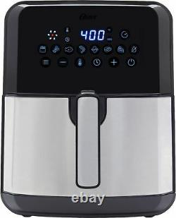Oster Diamondforce Antistick XL 5 Quart Digital Air Fryer Noir