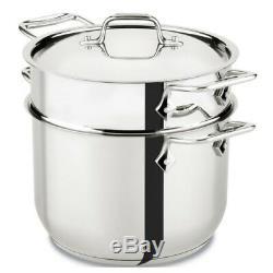 Pâtes Pot Batterie De Cuisine En Acier Inoxydable Noodle Passoire Insert 6 Pintes Pots Vapeur