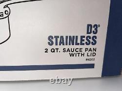 Poêle À Sauce En Acier Inoxydable 2 Litres Tout-vêtue Avec Couvercle