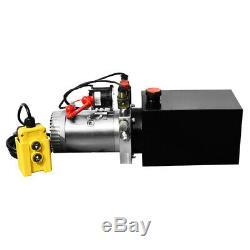 Pompe Hydraulique Double Effet 12v Dump Trailer-8 Pintes Translucide Réservoir