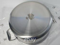 Pot De 8 Quart Qt En Acier Inoxydable Brossé Tout-plaqué D5 Avec Couvercle New In Box