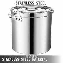Pot En Acier Inoxydable De 53 Litres Cuisson De Pot De Cuisine De 13 Gallons Avec Couvercle