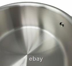 Pot En Céramique 3-quarts En Acier Inoxydable Brossé Tout-plaqué D5 Avec Couvercle