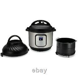 Pot Instantané Duo Crisp Et Friteuse D'air 6 Quart 11-en-1 Cuisinière À Pression Programmable