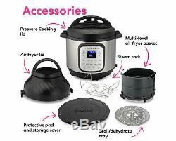 Pot Instantanée Duo Crisp Et Air Fryer 6 Pintes 11-in-1 Cooker Pression Programmable