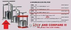Pressoir Ferrari Grande 5 Litres, 5 Litres, Big One, Acier Inoxydable Robuste & Alu