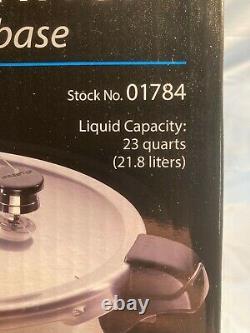 Presto 23 Pintes Pression Canner Avec Base En Acier Inoxydable Compatible Induction