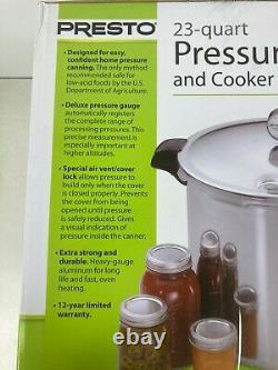 Presto 23 Quart Pression Canner & Cuiseur. Aluminium Extra Fort