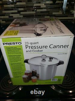 Presto 23-quart Canner Pression Et Cuiseur Tout Nouveau Modèle Original Boîte 01781