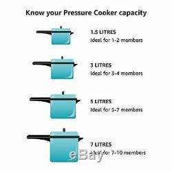 Puissance Pression Cooker XL Big Pot 10 Pintes Qt Maison Cuisine Noir Argent Électrique