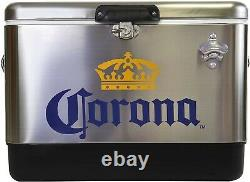 Refroidisseur De Coffre À Glace En Acier Inoxydable Corona 54 Quart -51 Litres Livraison Gratuite
