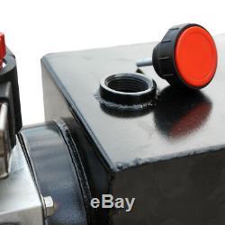 Remorque De Décharge De La Pompe Hydraulique 12v Double Effet De 3 Pintes - Réservoir En Acier Inoxydable