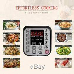 Rice Cooker Pression Électrique Premium 6 Pintes Instantanée Pot Programmable Multi-fonctions