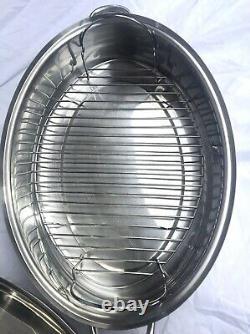 Saladmaster 10 Quart Turquie Rôtisseur Avec Rack 18-8 Acier Inoxydable
