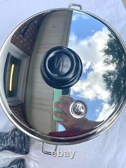 Saladmaster 316ti 5 Quart Roaster Stock Pot Pan Titanium Acier Inoxydable