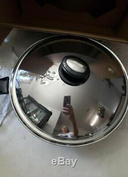 Saladmaster 5 Pintes Wok Inoxydable Batterie De Cuisine Non Utilisée Nouveau