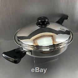 Saladmaster 5 Pintes Wok Pan 316ti Titane Inoxydable Vapo Poignées De Couvercle Batterie De Cuisine