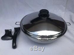 Saladmaster 5 Quart 13 Wok 316ti Titane Inox Waterless USA