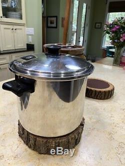 Saladmaster T304s 10 Pintes Roaster Stock Pot Et Couvercle Sans Eau Batterie De Cuisine