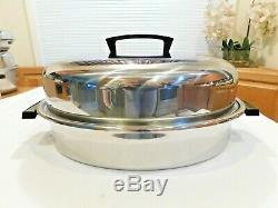 Saladmaster Vintage 10 Qt Turquie Roaster En Acier Inoxydable Excellent Etat USA