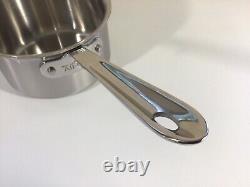Sauce-pan En Acier Inoxydable Tout-plaqué D5 + Couvercle 1 1/2 Litre