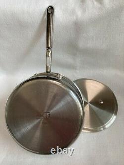 Sauce-pan En Cuivre À Base De Cuivre 5 Ply Avec Couvercle Sans Cailloux