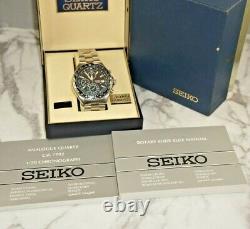 Seiko Snd253p1 Flightmaster Pilot Slide Rule Chronograph Watch 100m Quart Analogique