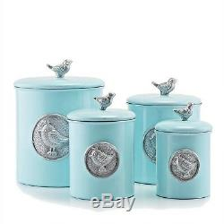 Set Canister Blue Bird Cuisine De Comptoir Conteneurs De Farine Sucre Café