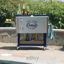 Tommy Bahama 100 Pintes En Acier Inoxydable Glacière À Roulettes Livraison Gratuite